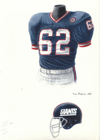 New York Giants 1986 - Heritage Sports Art - original watercolor artwork - 1