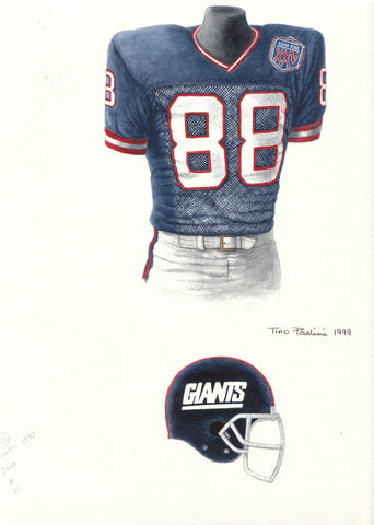 New York Giants 1990 - Heritage Sports Art - original watercolor artwork - 1