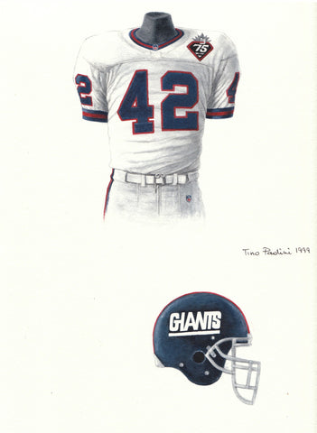 New York Giants 1999 - Heritage Sports Art - original watercolor artwork - 1