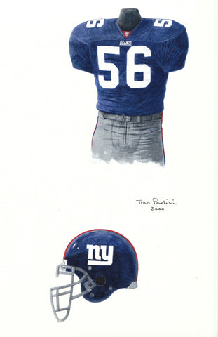 New York Giants 2000 - Heritage Sports Art - original watercolor artwork - 1