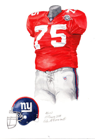 New York Giants 2004 - Heritage Sports Art - original watercolor artwork - 1