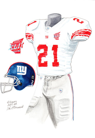 New York Giants 2007 - Heritage Sports Art - original watercolor artwork - 1