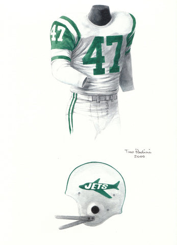 New York Jets 1963 - Heritage Sports Art - original watercolor artwork - 1