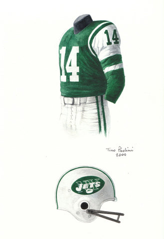 New York Jets 1965 - Heritage Sports Art - original watercolor artwork - 1