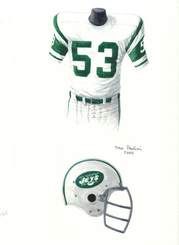 New York Jets 1968 - Heritage Sports Art - original watercolor artwork - 1
