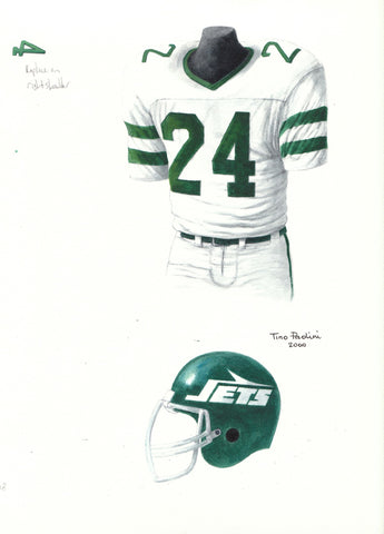 New York Jets 1978 - Heritage Sports Art - original watercolor artwork - 1