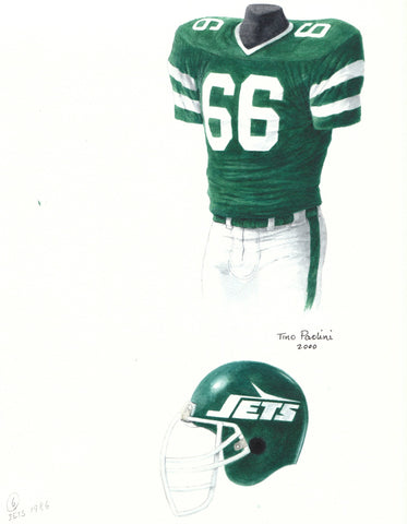 New York Jets 1986 - Heritage Sports Art - original watercolor artwork - 1