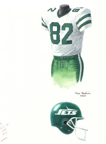 New York Jets 1990 - Heritage Sports Art - original watercolor artwork - 1