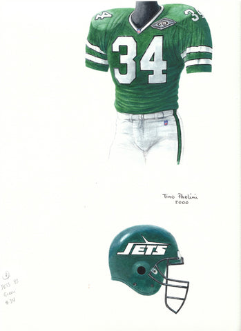 New York Jets 1993 - Heritage Sports Art - original watercolor artwork - 1