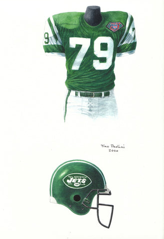 New York Jets 1994 - Heritage Sports Art - original watercolor artwork - 1
