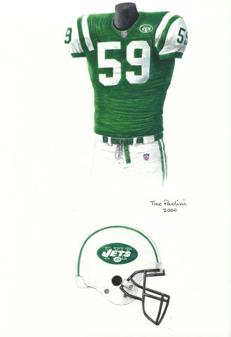 New York Jets 1998 - Heritage Sports Art - original watercolor artwork - 1