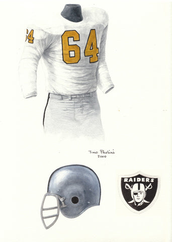 Oakland Raiders 1963 - Heritage Sports Art - original watercolor artwork - 1