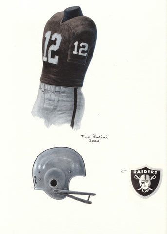 Oakland Raiders 1967 - Heritage Sports Art - original watercolor artwork - 1