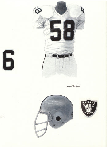 Oakland Raiders 1980 - Heritage Sports Art - original watercolor artwork - 1
