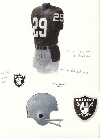 Oakland Raiders 1983 - Heritage Sports Art - original watercolor artwork - 1