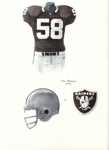 Oakland Raiders 1991 - Heritage Sports Art - original watercolor artwork - 1