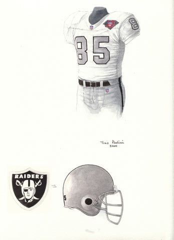 Oakland Raiders 1994 - Heritage Sports Art - original watercolor artwork - 1
