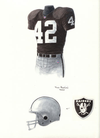 Oakland Raiders 2000 - Heritage Sports Art - original watercolor artwork - 1