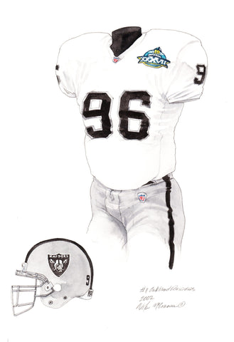 Oakland Raiders 2002 - Heritage Sports Art - original watercolor artwork - 1