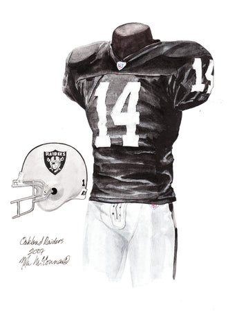 Oakland Raiders 2007 - Heritage Sports Art - original watercolor artwork - 2
