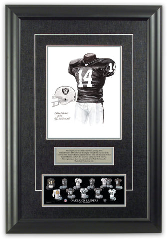 Oakland Raiders 2007 - Heritage Sports Art - original watercolor artwork - 1