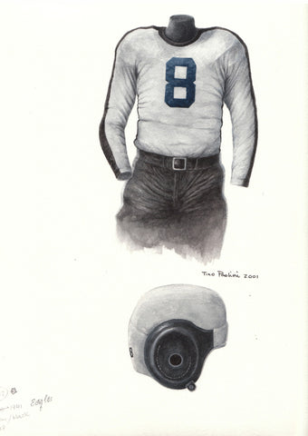 Philadelphia Eagles 1941 - Heritage Sports Art - original watercolor artwork - 1