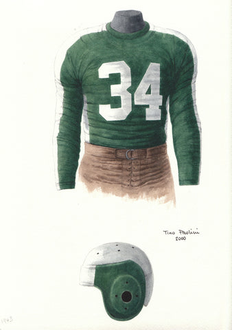 Philadelphia Eagles 1943 - Heritage Sports Art - original watercolor artwork - 1