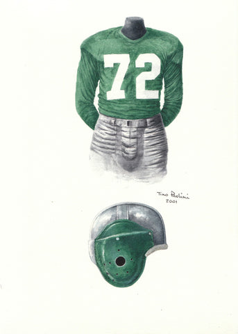 Philadelphia Eagles 1949 - Heritage Sports Art - original watercolor artwork - 1