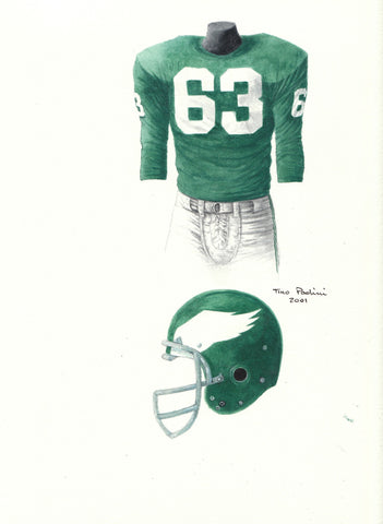 Philadelphia Eagles 1960 - Heritage Sports Art - original watercolor artwork - 1