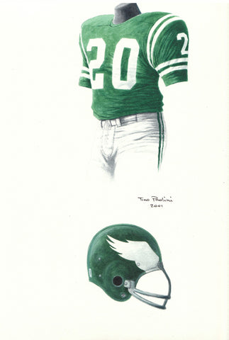 Philadelphia Eagles 1967 - Heritage Sports Art - original watercolor artwork - 1