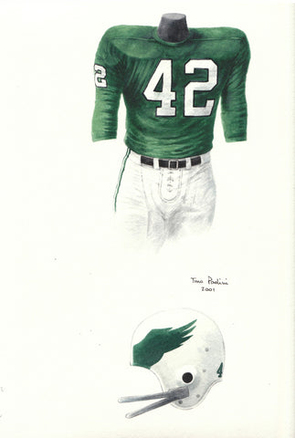 Philadelphia Eagles 1972 - Heritage Sports Art - original watercolor artwork - 2