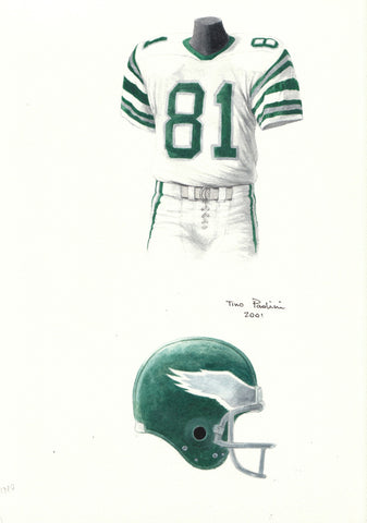 Philadelphia Eagles 1980 - Heritage Sports Art - original watercolor artwork - 1
