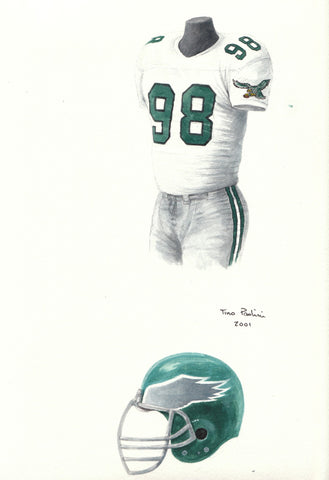 Philadelphia Eagles 1989 - Heritage Sports Art - original watercolor artwork - 1