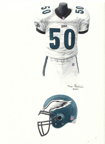 Philadelphia Eagles 1999 - Heritage Sports Art - original watercolor artwork - 1