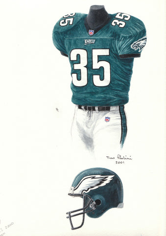 Philadelphia Eagles 2000 - Heritage Sports Art - original watercolor artwork - 1