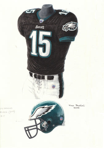 Philadelphia Eagles 2004 - Heritage Sports Art - original watercolor artwork - 1