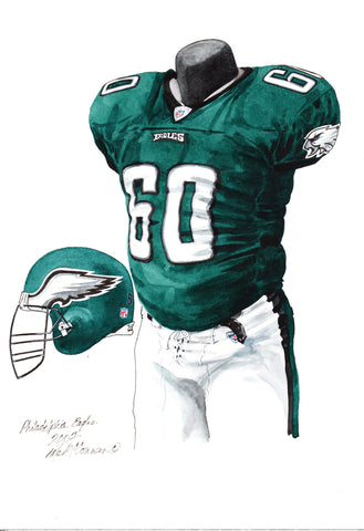 Philadelphia Eagles 2007 - Heritage Sports Art - original watercolor artwork - 1