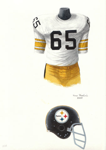 Pittsburgh Steelers 1974 - Heritage Sports Art - original watercolor artwork - 1