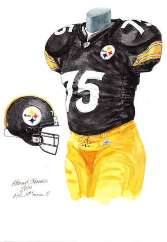 Pittsburgh Steelers 2007 - Heritage Sports Art - original watercolor artwork - 1