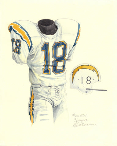 San Diego Chargers 1965 - Heritage Sports Art - original watercolor artwork - 1