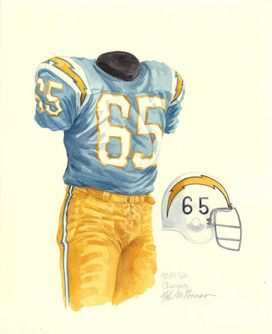 San Diego Chargers 1966 - Heritage Sports Art - original watercolor artwork - 1