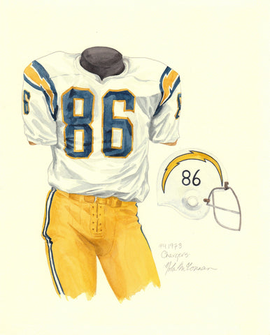 San Diego Chargers 1973 - Heritage Sports Art - original watercolor artwork - 1