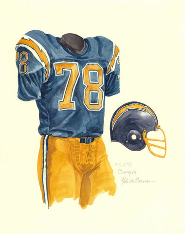 San Diego Chargers 1977 - Heritage Sports Art - original watercolor artwork - 1