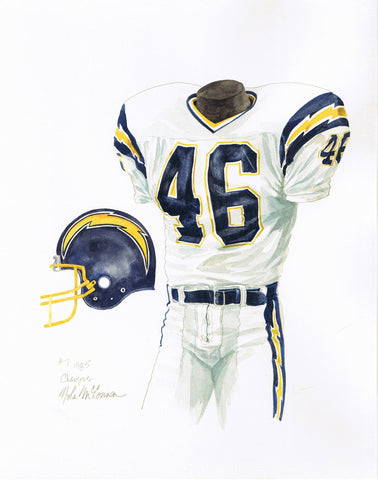 San Diego Chargers 1985 - Heritage Sports Art - original watercolor artwork - 1