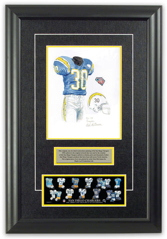 San Diego Chargers 1994 Throwback - Heritage Sports Art - original watercolor artwork - 1