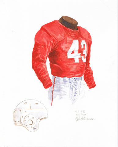 San Francisco 49ers 1946 - Heritage Sports Art - original watercolor artwork - 1