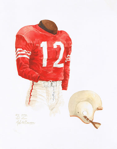 San Francisco 49ers 1952 - Heritage Sports Art - original watercolor artwork - 1