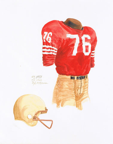 San Francisco 49ers 1959 - Heritage Sports Art - original watercolor artwork - 1