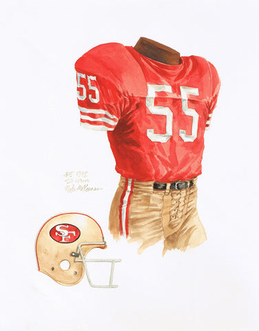 San Francisco 49ers 1972 - Heritage Sports Art - original watercolor artwork - 1
