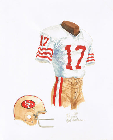 San Francisco 49ers 1981 - Heritage Sports Art - original watercolor artwork - 1